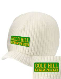 Gold Hill Elementary School Stars Embroidered Knit Beanie with Visor