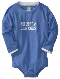 Chico Christian School Lion Cubs  Baby Long Sleeve 1-Piece with Shoulder Snaps