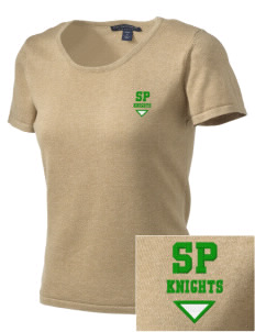 Saint Peters School Knights Embroidered Women's Fine-Gauge Scoop Neck Sweater