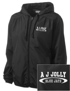 A J Jolly Elementary School Blue Jays Embroidered Women's Hooded Essential Jacket
