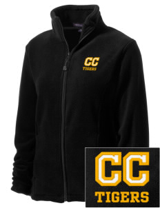 Clay County High School Tigers Embroidered Women's Wintercept Fleece Full-Zip Jacket