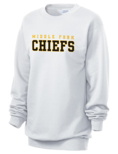 Middle Fork Elementary School Chiefs Unisex 7.8 oz Lightweight Crewneck Sweatshirt