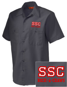 Saint Stanislaus College Preparatory Rock-A-Chaws Embroidered Men's Cornerstone Industrial Short Sleeve Work Shirt