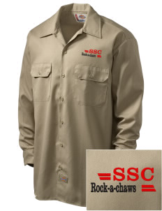 Saint Stanislaus College Preparatory Rock-A-Chaws Embroidered Dickies Men's Long-Sleeve Workshirt