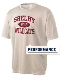Shelby Elementary School Wildcats Men's Competitor Performance T-Shirt