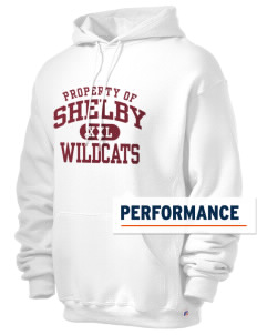 Shelby Elementary School Wildcats Russell Men's Dri-Power Hooded Sweatshirt