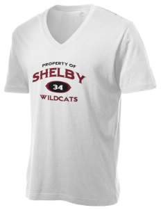 Shelby Elementary School Wildcats Alternative Men's 3.7 oz Basic V-Neck T-Shirt