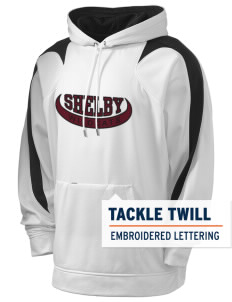 Shelby Elementary School Wildcats Holloway Men's Sports Fleece Hooded Sweatshirt with Tackle Twill