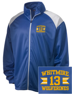 Whitmire High School Wolverines Embroidered Men's Tricot Track Jacket