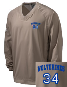 Whitmire High School Wolverines Embroidered adidas Men's ClimaProof V-Neck Wind Shirt
