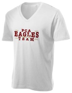 Portsmouth Christian Academy Eagles Alternative Men's 3.7 oz Basic V-Neck T-Shirt
