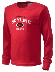 Skyline School Tigers  Kid's Long Sleeve T-Shirt