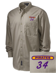 Mount Olive Attendence Center Pirates Embroidered Men's Twill Shirt