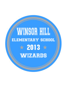 Winsor Hill Elementary School Wizards Sticker