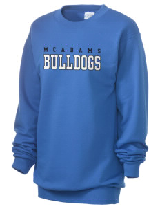 McAdams High School Bulldogs Unisex 7.8 oz Lightweight Crewneck Sweatshirt