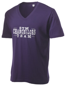 St. Thomas More School Chancellors Alternative Men's 3.7 oz Basic V-Neck T-Shirt