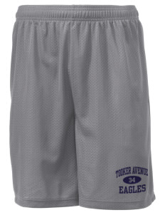 "Tooker Avenue Elementary School Eagles Men's Mesh Shorts, 7-1/2"" Inseam"