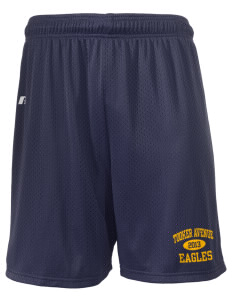 "Tooker Avenue Elementary School Eagles  Russell Men's Mesh Shorts, 7"" Inseam"