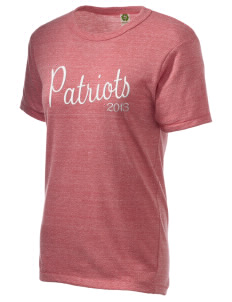 Heritage Christian School Patriots Embroidered Alternative Unisex Eco Heather T-Shirt