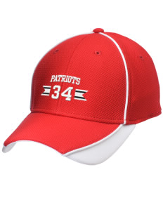 Heritage Christian School Patriots Embroidered New Era Contrast Piped Performance Cap