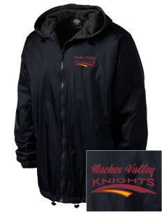 Naches Valley Middle School Knights Embroidered Dickies Men's Fleece-Lined Hooded Jacket