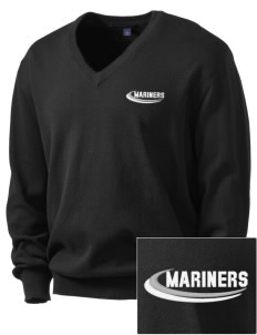 Pacific Harbor Christian School Mariners Embroidered Men's V-Neck Sweater