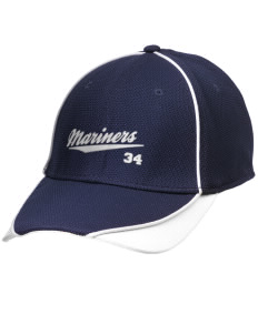 Pacific Harbor Christian School Mariners Embroidered New Era Contrast Piped Performance Cap
