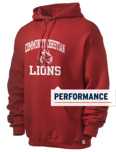 Community Christian School Lions Russell Men's Dri-Power Hooded Sweatshirt