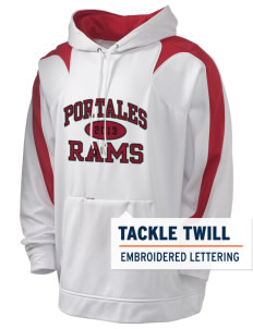 Portales Junior High School Rams Holloway Men's Sports Fleece Hooded Sweatshirt with Tackle Twill