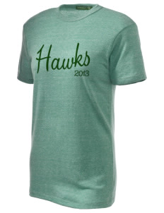 Fairbanks Country Day School Hawks Embroidered Alternative Unisex Eco Heather T-Shirt
