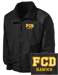 Fairbanks Country Day School Hawks Embroidered Tall Men's Challenger Jacket