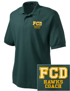 Fairbanks Country Day School Hawks Embroidered Tall Men's Silk Touch Polo