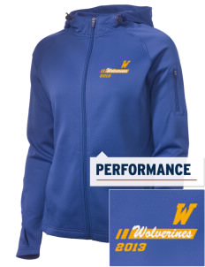 Willamina Middle School Wolverines Embroidered Women's Tech Fleece Full-Zip Hooded Jacket