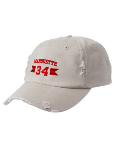 Marquette High School Mohawks Embroidered Distressed Cap