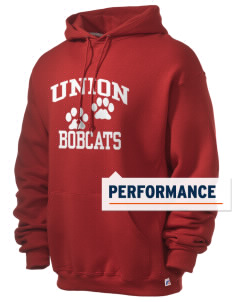 Union High School Bobcats Russell Men's Dri-Power Hooded Sweatshirt