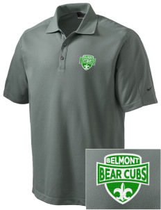 Belmont Elementary School Bear Cubs Embroidered Nike Men's Dri-FIT Pique II Golf Polo