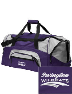 Irvington Elementary School Wildcats Embroidered Colorblock Duffel Bag