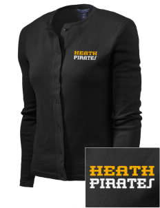 Heath Elementary School Pirates Embroidered Women's Cardigan Sweater