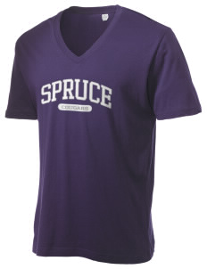 Spruce Elementary School Cougars Alternative Men's 3.7 oz Basic V-Neck T-Shirt