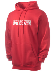 Klamath River Elementary School Wildcats Men's 7.8 oz Lightweight Hooded Sweatshirt