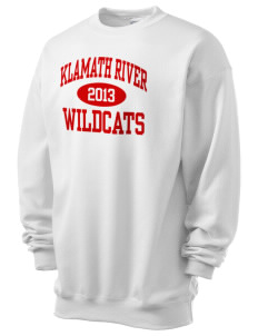 Klamath River Elementary School Wildcats Men's 7.8 oz Lightweight Crewneck Sweatshirt