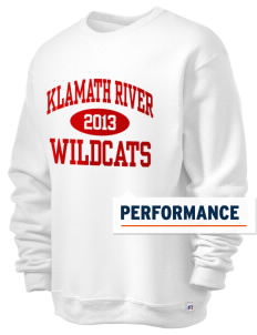 Klamath River Elementary School Wildcats  Russell Men's Dri-Power Crewneck Sweatshirt