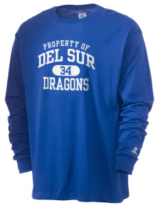 Del Sur School Dragons  Russell Men's Long Sleeve T-Shirt