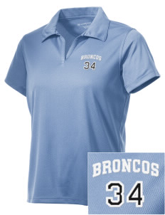 Barnard-White Middle School Broncos Embroidered Women's Double Mesh Polo