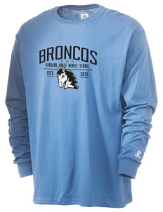 Barnard-White Middle School Broncos  Russell Men's Long Sleeve T-Shirt