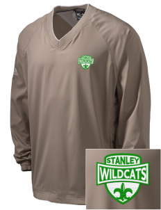 Stanley Middle School Wildcats Embroidered adidas Men's ClimaProof V-Neck Wind Shirt