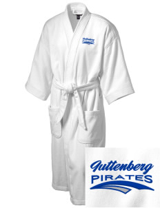 Guttenberg Elementary School Pirates Embroidered Terry Velour Robe