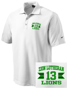Zion Lutheran School Lions Embroidered Nike Men's Dri-FIT Pique II Golf Polo