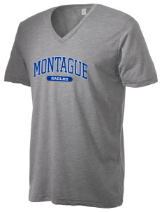 Montague Elementary School Eagles Alternative Men's 3.7 oz Basic V-Neck T-Shirt