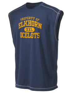 Elkhorn School Ocelots Champion Men's 4.1 oz Double Dry Odor Resistance Muscle T-Shirt